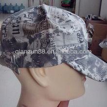 2013 100% cotton plain army flat cap