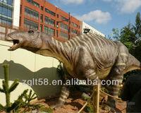 Life Size Animatronic Dinosaur In Mud Large Rubber Animals