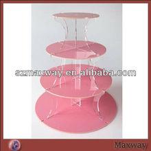 4 tier acrylic cake stand/cake stand/pink milk glass cake stand