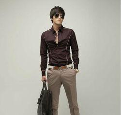 NEW arrived men's Casual Luxury Stylish Slim Long Sleeve shirts