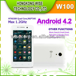 Top selling 4.5'' QHD THL W100 Quad core Smartphone MTK6589 Android 4.2