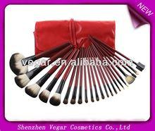 22pcs Red Make up Mineral Brushes pink makeup brush set