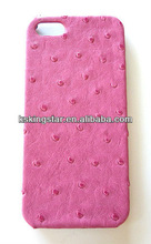 ostrich leather phone case for iphone 5