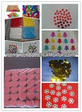 confetti streamers /flameproof konfetti paper/gold confetti metallic