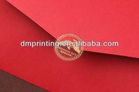 Gold Stamping Transparent PVC Sealing Paster