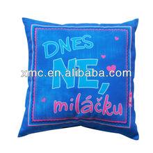 Lounge chair print decorative plain cushion pillow