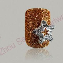 3D Metal decoration designer press on nails