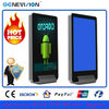55 inch free standing lobby touch screen kiosk monitor