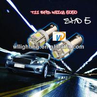 T4W Ba9S LED 5 SMD 2 Lampen WEISS Standlicht Kennzeichen Beleuchtung 5050