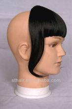 100 remy black human hair bangs