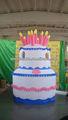 nuevo 2013 torta de cumpleaños inflable con led