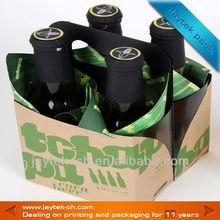 4 pack/bottle corrugated beer packing carrier
