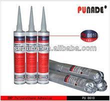 PU8610 Black Poly Urethane / PU adhesive sealant for Auto glass 8Mpa