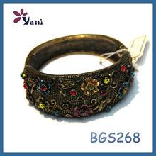 2014 top sale unique 18k italian antique gold jewelry copper magnetic bracelet