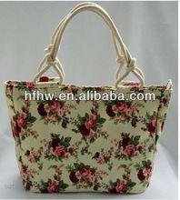 2013newest best selling Korean style floral flowers canvas handbag