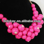 Summer feel hot selling jewelry,scarf fruits chunky necklace,thunder-and-lightning necklace
