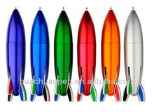 rocket shape pen,multi-color