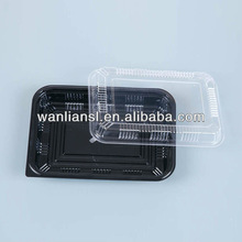 disposable plastic compartment box with lid