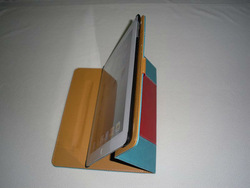 colors mixed for ipad leather case,leather case for ipad with stand