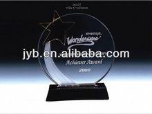 Promotional crystal glass trophy for souvenir