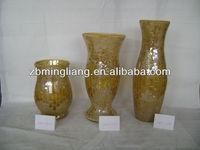 sprayed mosaic glass vase