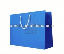 Brand Name and Logo Printing Paper Shopping Bag brown paper bags with handles wholesale