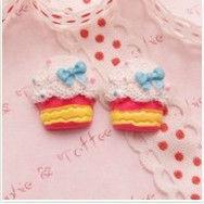 Girly Cupcake V2 Cabochon resin food