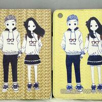 Korea couple design leather case for ipad mini