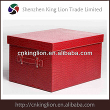 large capacity leather storage box/storeage compartment