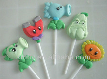 Cartoon shape gummy lollipop candy