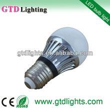 High power CE&RoHS globe 200lm a50 e27 3 watt led bulb indoor led emergency light