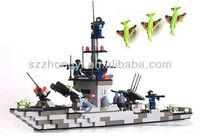 Toy bricks warship for boys 1