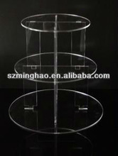3 TIER CIRCLE ACRYLIC CUPCAKE PARTY WEDDING CAKE STAND