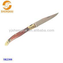 stainless steel 1pc in pakkawood handle custom pocket knife