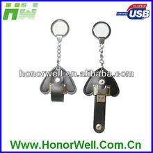 OEM 1 2 4 8GB heart leather usb flash memory sticks flash disk USB port