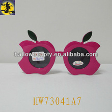 Plastic Red Apple Design Fashion Party Eye Glasses