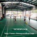 Pvc revestimento de esportes de quadra de badminton rolo com 100% pvc matérias-primas