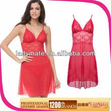 Attractive ladies red nighties lingerie