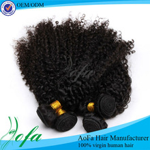 4 bundles wholesale Maylaysian kinky curly hair weave