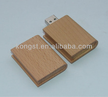wooden book usb flash memory drive\disk