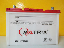 HOT selling model to south Africa N70 car battery