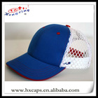 Blue white mesh back polo sport country made in china caps hats