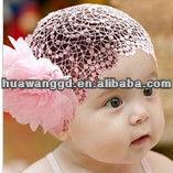 Pretty pink children hair - nets hair ornament for girl Wholesale