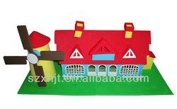 3d foam diy toy windmill house(FM-012)