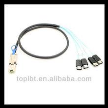lbtUSB404 Mini SAS (SFF-8088) to (4) eSATA Cable