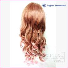 Hot seller high quality long curly wig 100% modacrylic fiber