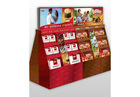 Attractive ladder counter cardboard display case for CD/DVD or Compact Disc