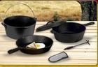 Cast Iron Camping Set/BBQ Cookware ,Hot sale