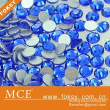 capri blue loose crystal rhinestone nail art - FOKSY