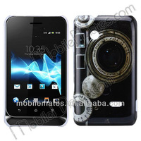 Nostalgic Style Back Cover Hard Case for Sony Xperia Tipo ST21i, for Sony ST21i Plastic Back Case